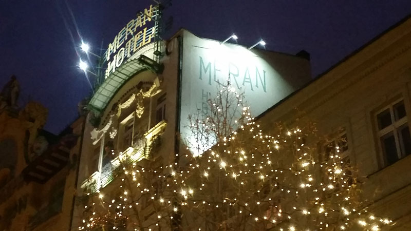 hotel meran in prague with christmas decoration