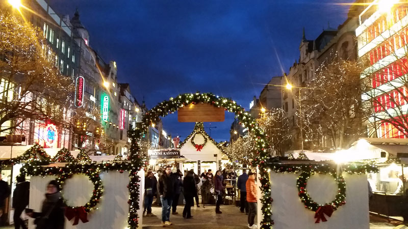 prague christams markets wenceslas square