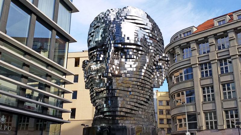 david cerny sculpture of franz kafkas head