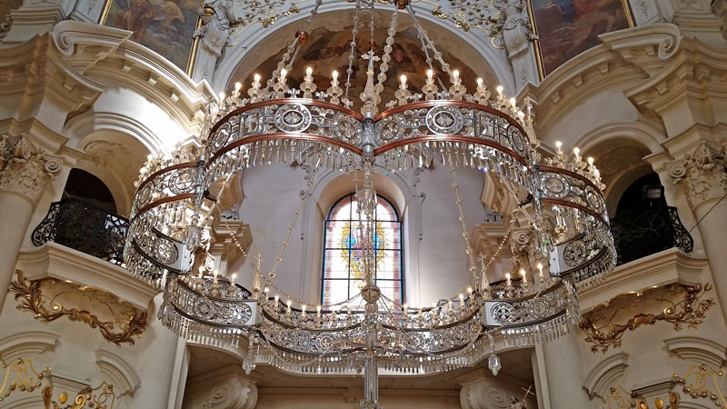 Prague st nicholas church old town chandelier