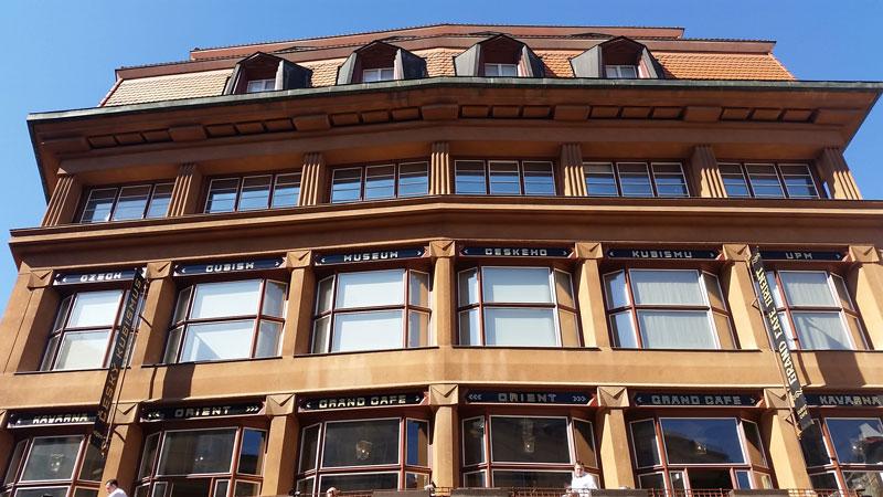 prague cubism museum facade