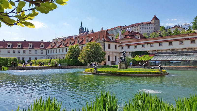 prague wallenstein palace garden pond